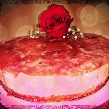 Cheesecake de Rosas