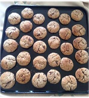 Galletas de Almendras y trozos de Chocolate para Pesaj
