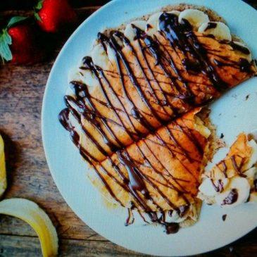 Blintzes o Crepes Relleno de Nutella y banano