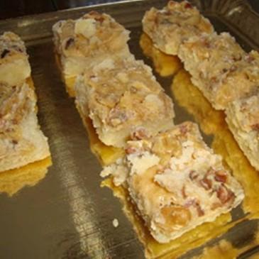 Cuadraditos de Galletas con Queso Crema