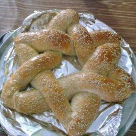 Pan que en forma de la Estrella Relleno con Crema de Avellanas