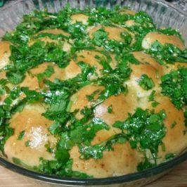 Pancitos con aceite de olivo ajo y cilantro