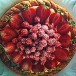 Pie de Fresas y frutos rojos