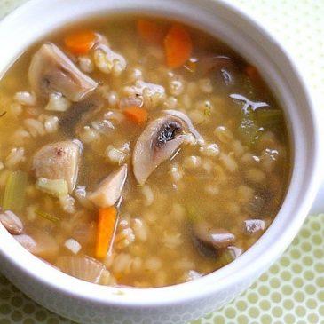 Sopa de Cebada y hongos