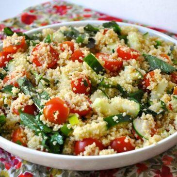 Ensalada de Cous cous con vegetales frescos