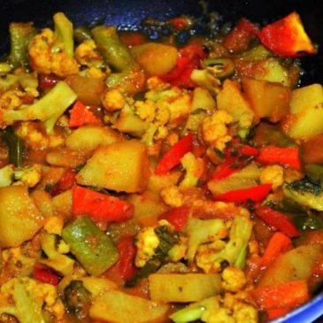 Popurrí de Batatas y verduras