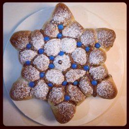 Jala en forma de maguen david relleno con nutella, especial Iom Haatzmaut
