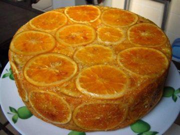 Volcado o Torta Invertida de Naranja