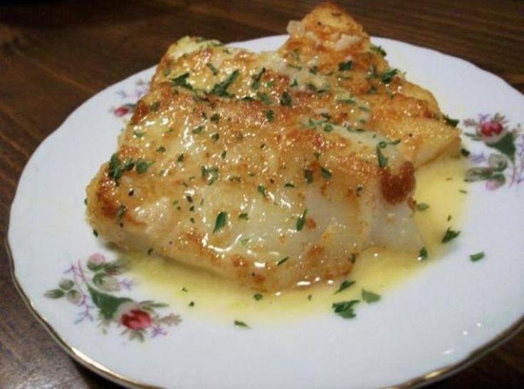 Flounder Fish Recipes Baked Butter Sauce
